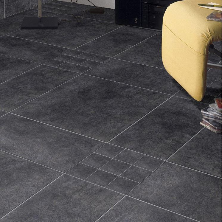 Pavimento in cotto grigio