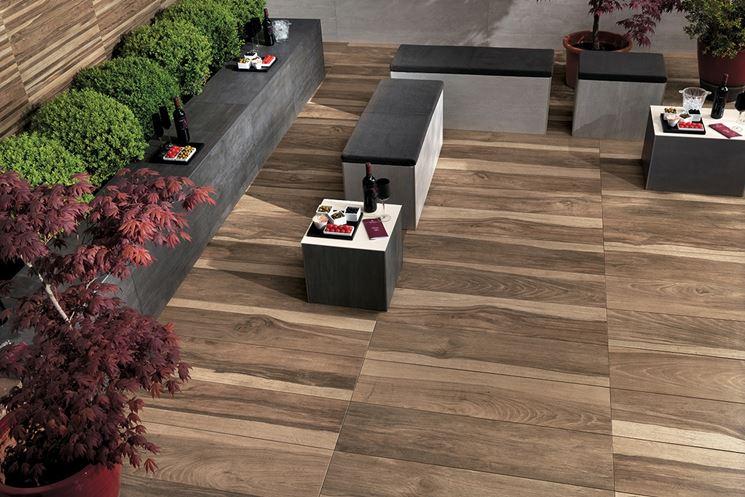 Piastrelle Effetto Legno Per Esterni : Pavimenti gres porcellanato effetto legno piastrelle per casa