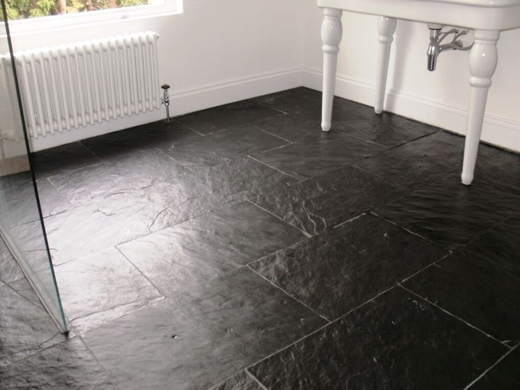 Pavimenti in ardesia piastrelle per casa caratteristiche pavimento ardesia - Piastrelle di ardesia ...