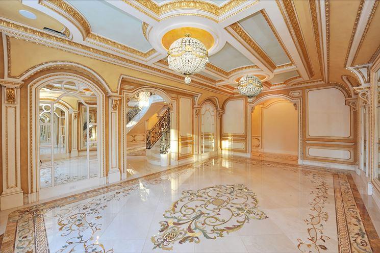 Lussuoso pavimento in marmo