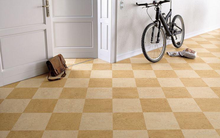 Esempio di pavimento in linoleum