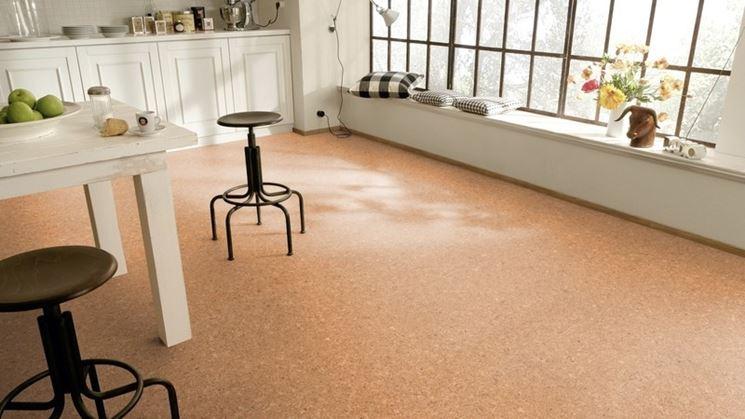 Pavimento in linoleum in cucina