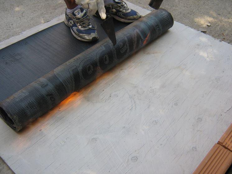 Impermeabilizzazione terrazzo con bitume