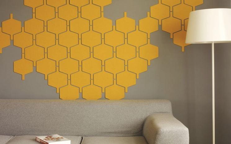Soggiorno con pareti adesive