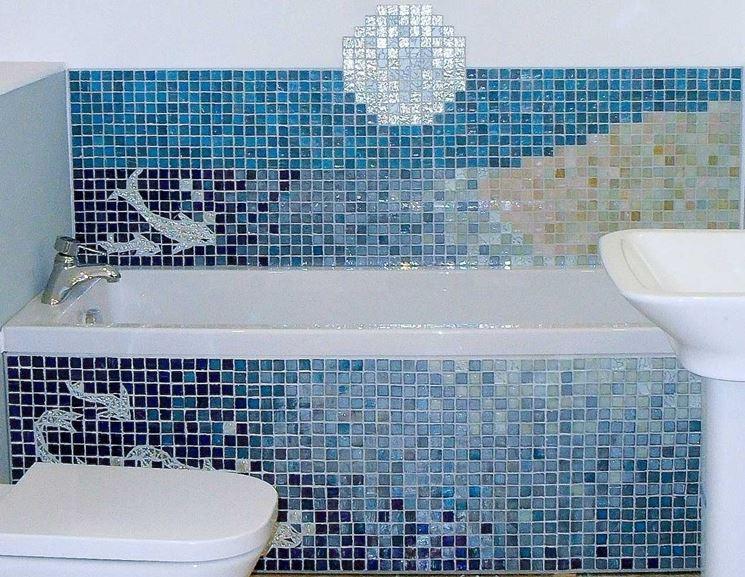 Parete doccia mosaico
