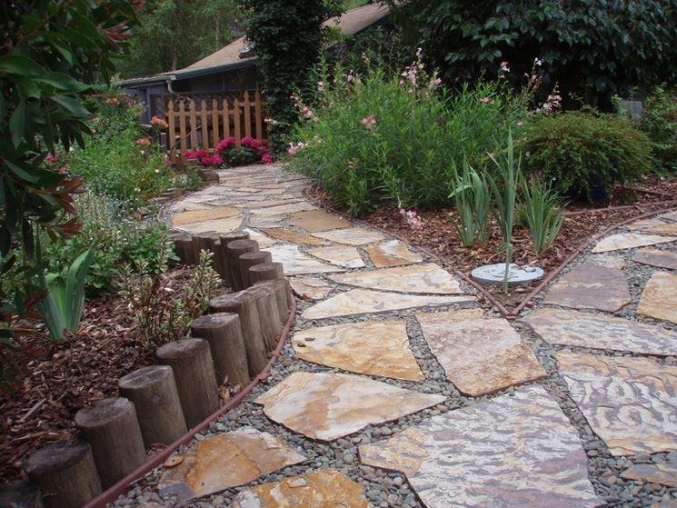 Piastrelle da giardino in pietra