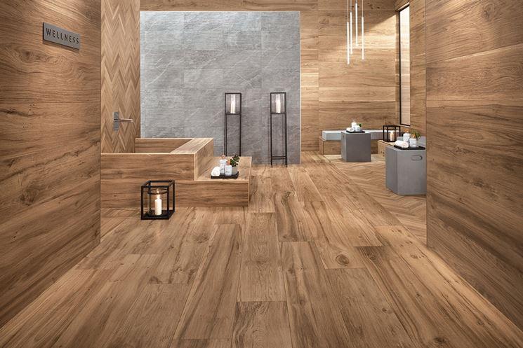 Rivestimenti per bagno in legno