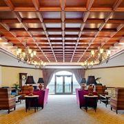 Un classico soffitto a cassettoni