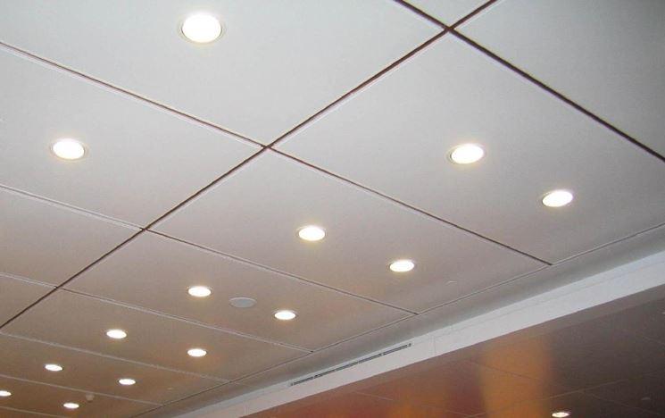 Pannelli controsoffitto luci