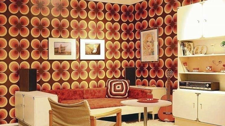 carta parati anni settanta fantasie geometriche