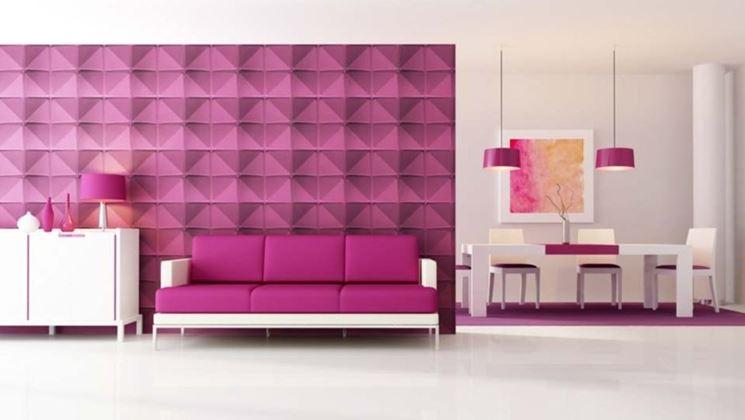 Effetto 3D di decorazione parete