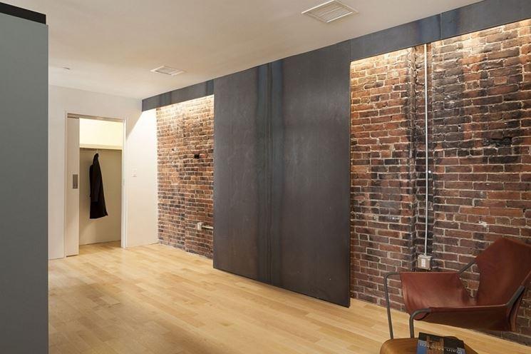 Esempio di parete di mattoni