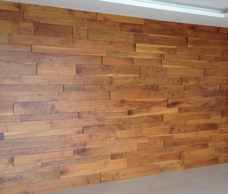 Esempio di pareti in legno