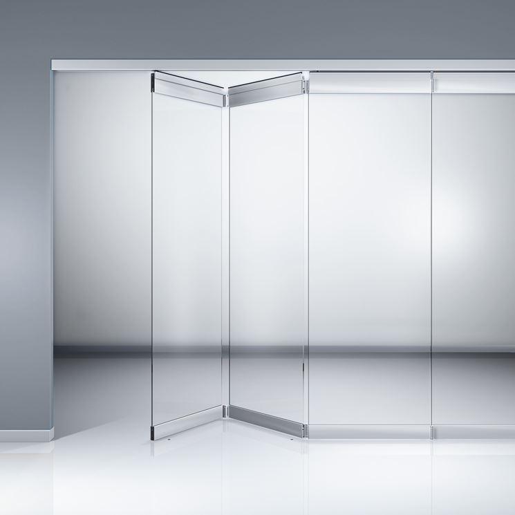 Parete modulare in vetro