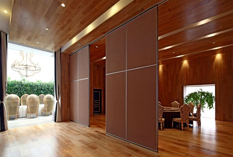 pareti modulari scorrevoli