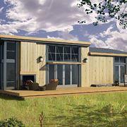 Casa con pareti prefabbricate in legno