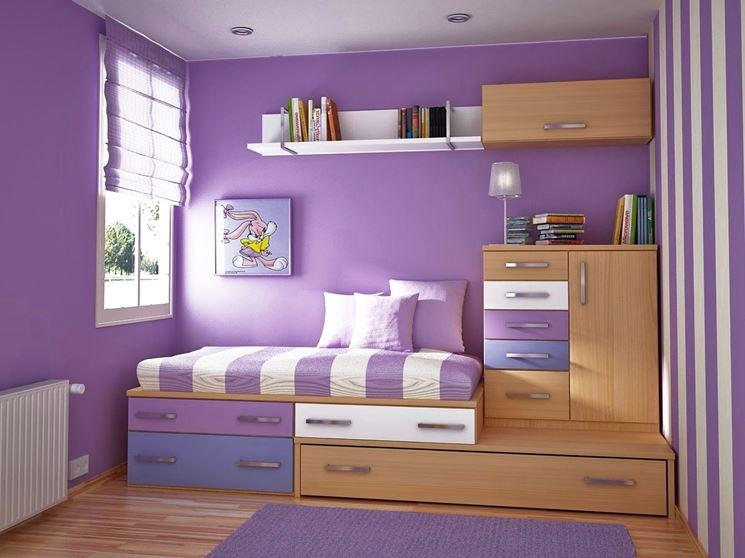 Pitturare le pareti in viola