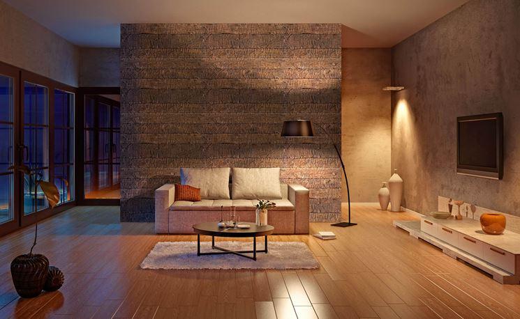 Esempio di rivestimento pareti interne a scopo decorativo