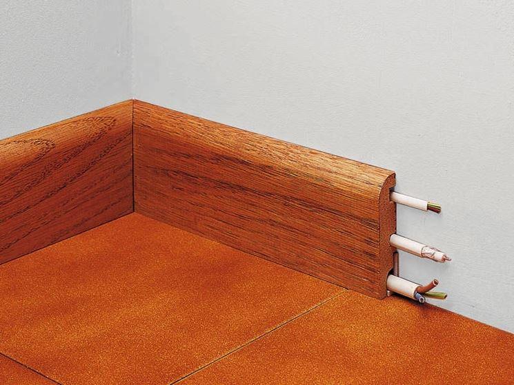 zoccolino in legno portafili