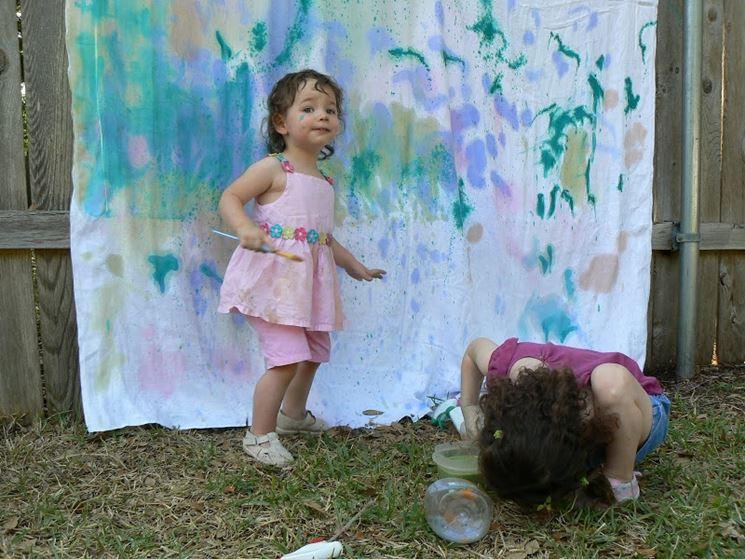 La pittura lavabile è a prova di bambino