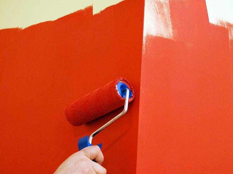 Pittura lavabile rossa