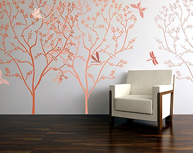 Stencil per pareti imbiancare casa decorazione parete - Stencil per parete ...
