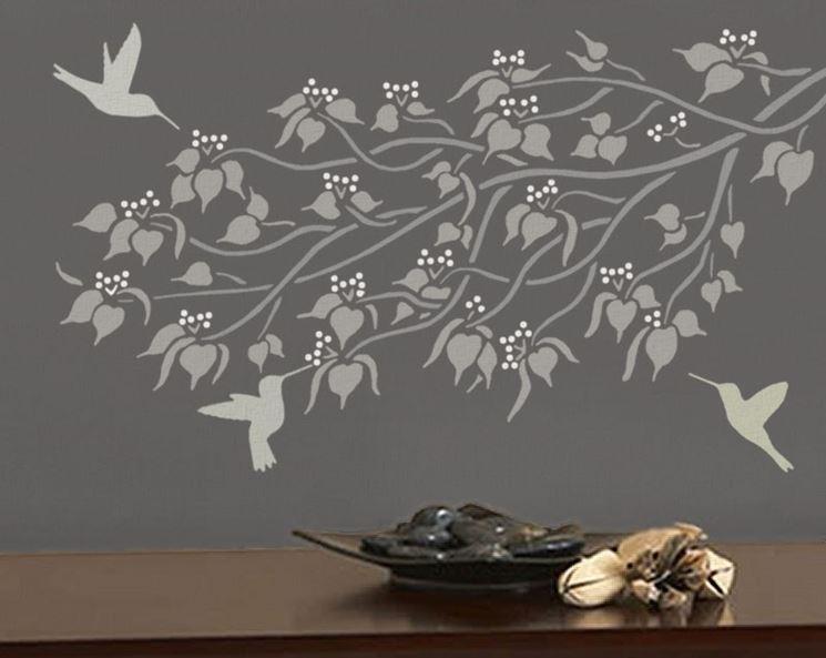 Stencil per pareti imbiancare casa decorazione parete for Stencil per pareti