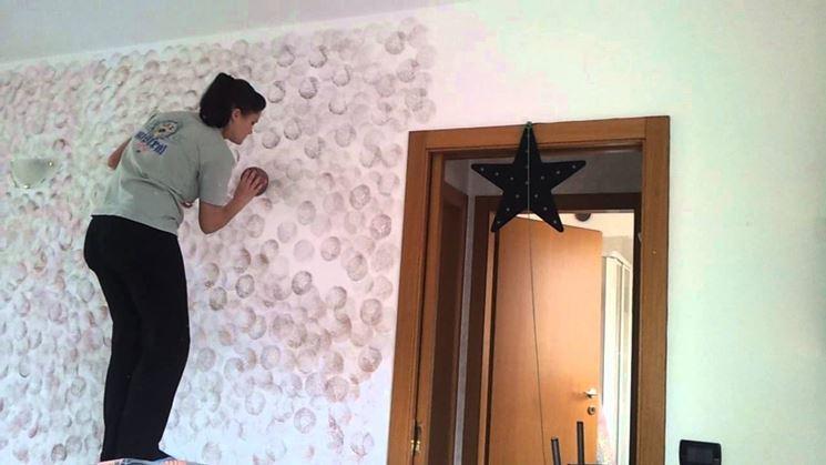 La spugnatura delle pareti