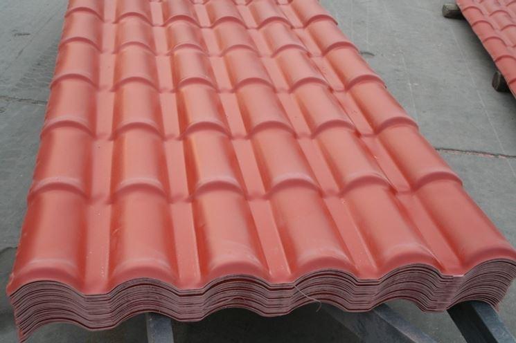Tegole in pvc per tetto