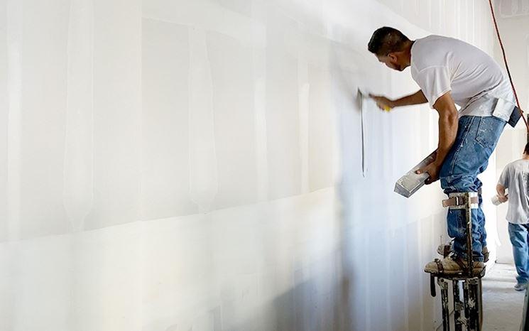 Applicazione parete in cartongesso