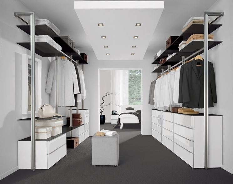 esempi di cabine armadio in cartongesso: creare la cabina armadio ... - Idee Di Cabine Armadio In Cartongesso
