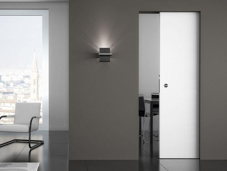 Affordable Porta Scorrevole Cartongesso Lavori In Cartongesso With Parete  In Cartongesso Con Porta