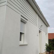 casa con intonaco termico
