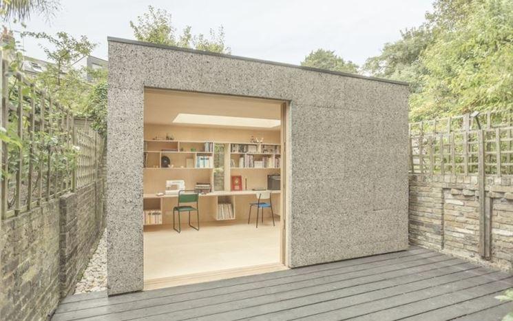 Ufficio con pareti in sughero