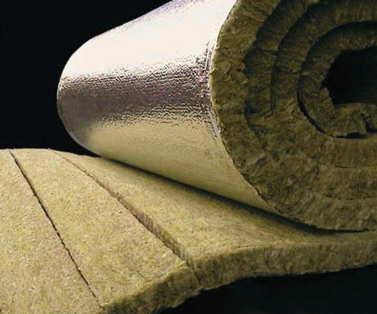 Materiale fonoisolante di lana di roccia