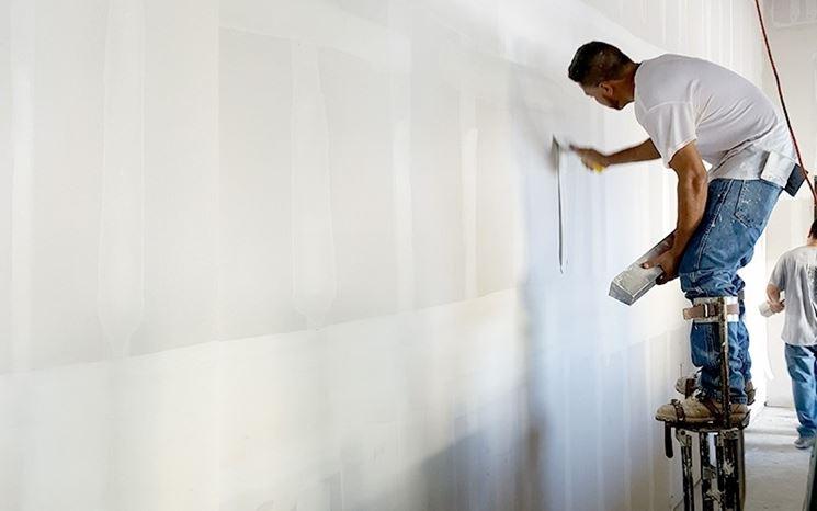 Installazione parete in cartongesso