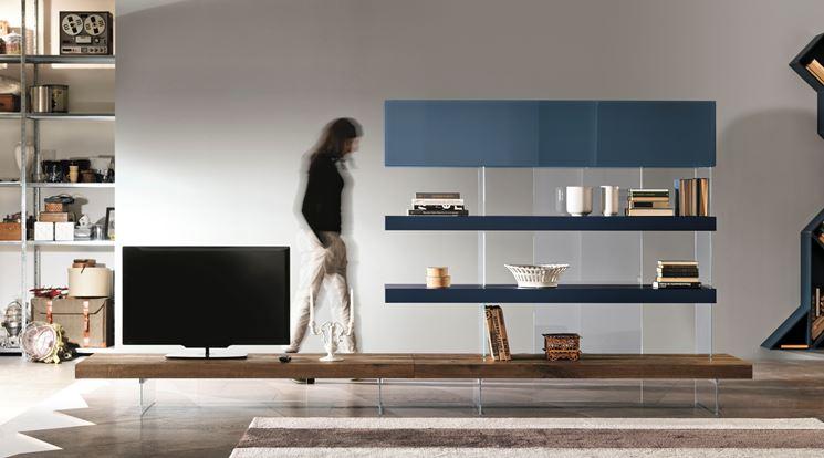 Pareti divisorie attrezzate pannelli divisori - Lago mobili soggiorno ...