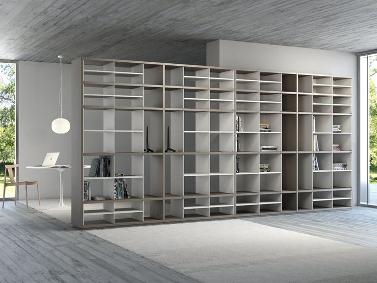 Pareti divisorie attrezzate pannelli divisori - Libreria parete divisoria ...