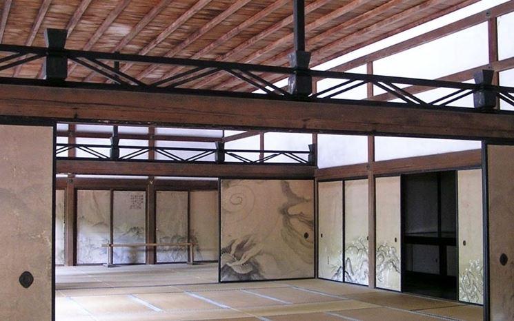 pareti scorrevoli giapponesi pannelli divisori