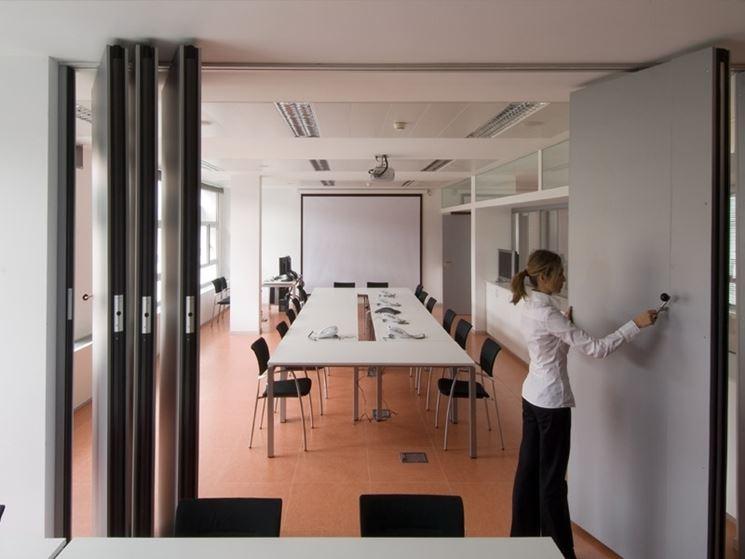 Pannelli divisori mobili in ufficio