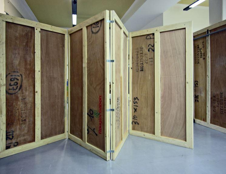 Separe fai da te pannelli divisori realizzare un - Parete in legno fai da te ...