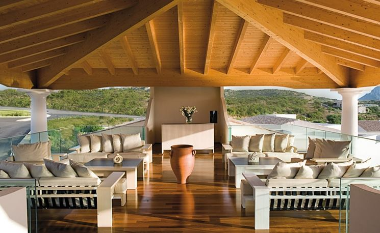 interno tetto in legno