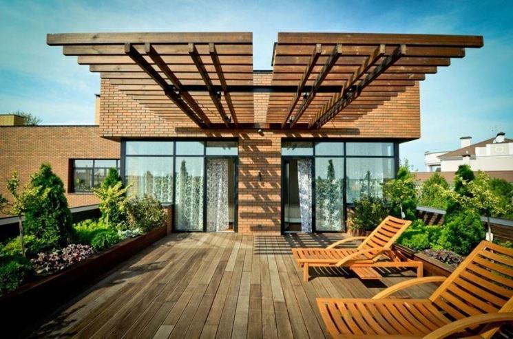 Copertura in legno per giardino