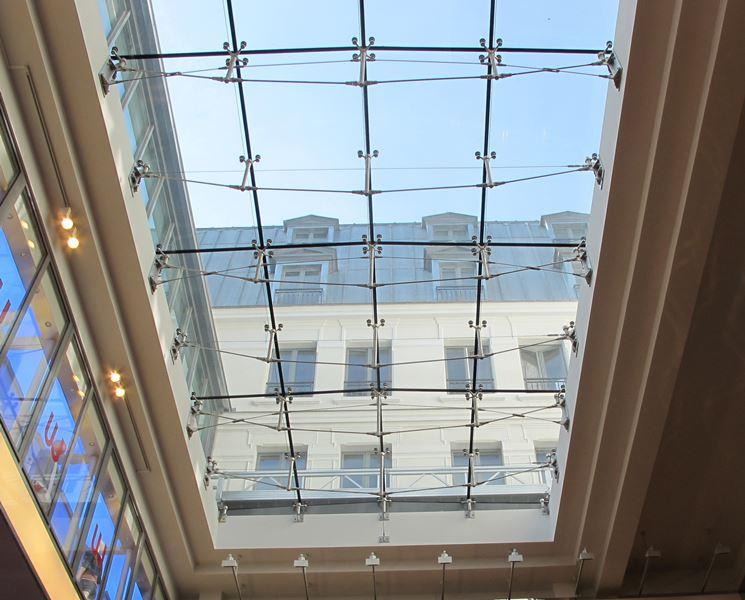 Coperture in vetro - Rivestimento tetto - Vari modelli di coperture in vetro