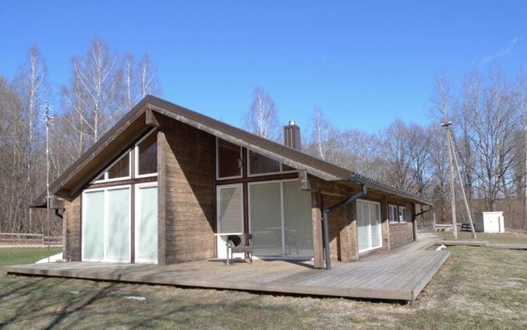 Casa realizzata interamente con legno lamellare