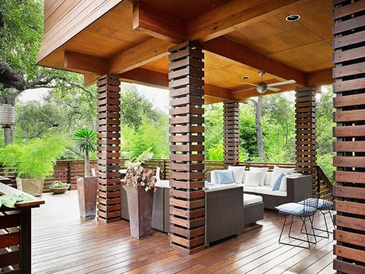 Copertura per esterno in legno