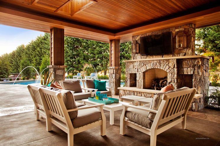 Copertura per terrazzo in legno