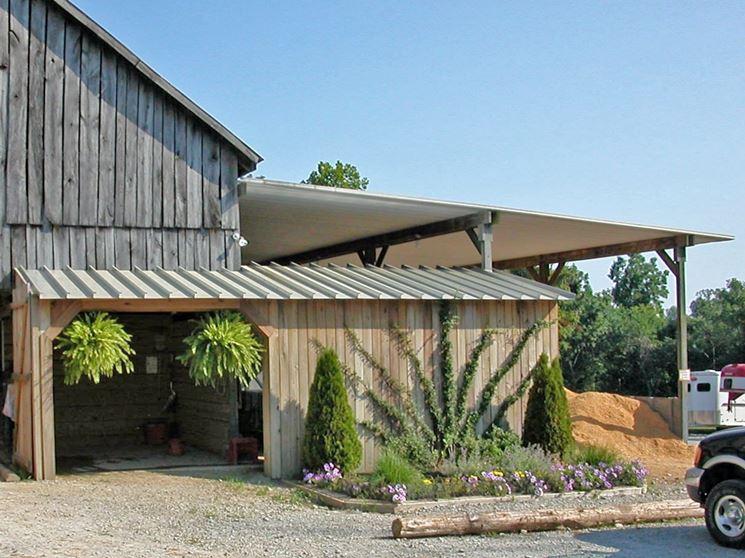 Realizzare copertura per tettoia