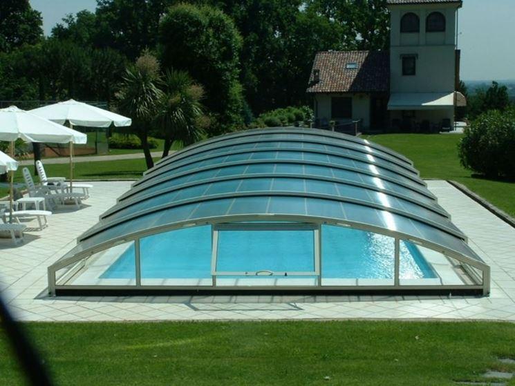 Coperture telescopiche per piscine - Rivestimento tetto