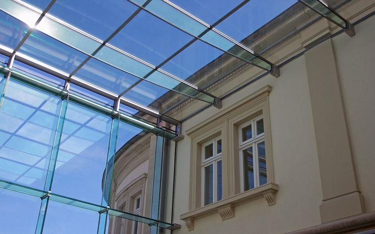 Esempio di coperture in vetro